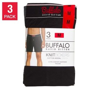 3PK Men's Knit Boxer Cotton Modal Stretch U.W